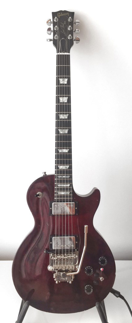 roland GK-KIT pickup installed in a Gibson LP