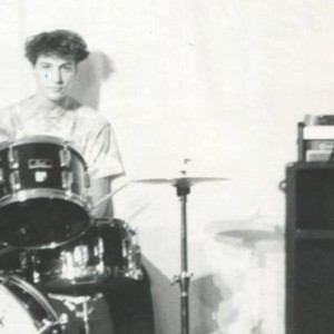 Chris Wassell behind the kit.